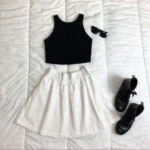 NWT Mossimo White Textured Skirt